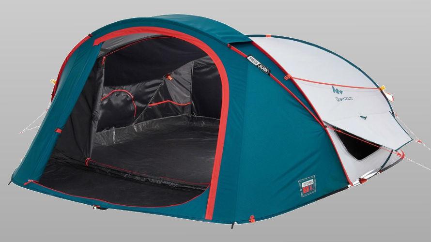 De camping plus tent van Tour for Life
