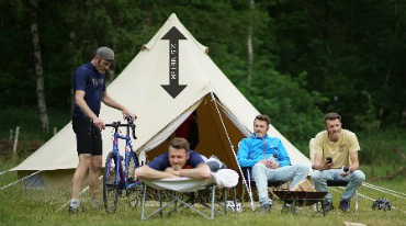 De glamping tenten van Tour for Life