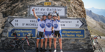 Drie deelnemers in Frankrijk
