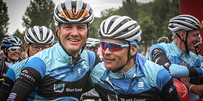 Een grote glimlach bij twee deelnemers